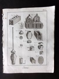 Diderot 1780's Antique Print. Chimie 03 Chemistry